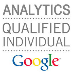 vaishal patel google analytics certified professional badge