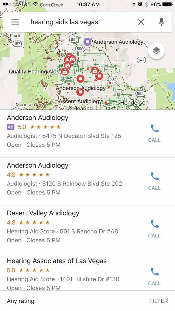 advertise on google maps Mobile App view