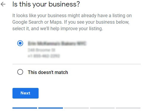 claim business on google