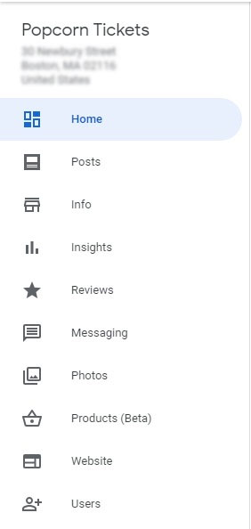 google my business profile edit option