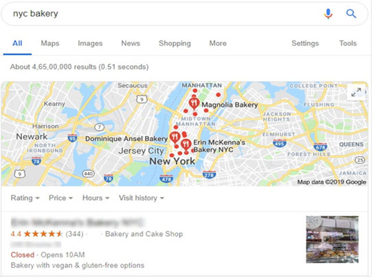 Google my business search view